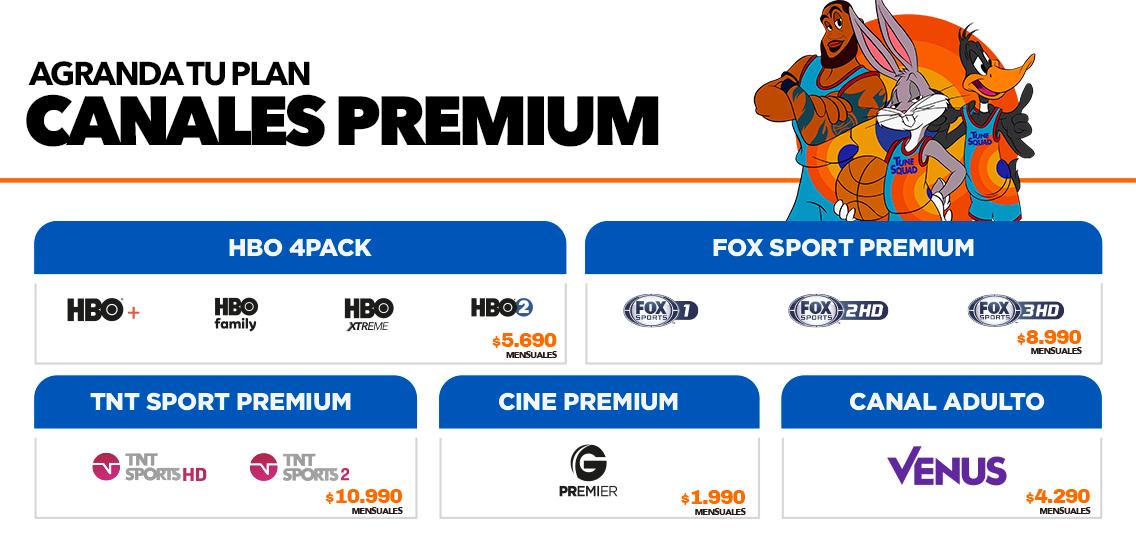 Pack Premium canales